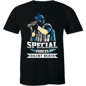 Special Forces Silent Death Military T-shirt Tee